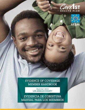 Manual para miembros de Care1st Health Plan de L.A. Care (PDF)