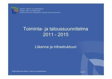 Toiminta- ja taloussuunnitelma 2011 - 2015 - Etelä-Pohjanmaan liitto