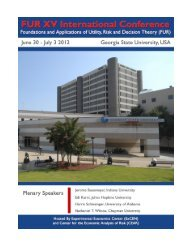 FUR XV International Conference Program and Abstracts (PDF)