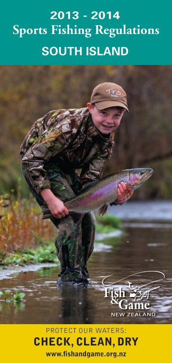 Sports Fishing Regulations 2013 - 2014 SOUTH ISLAND