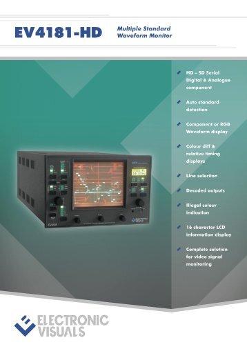 EV4181-HD Multiple Standard Waveform Monitor - Electronic Visuals