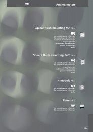 Analog meters Square flush mounting 90° 10.02 RQ ... - Arianbc.net
