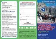Corso di Formazione ONC 2011.indd - Club Alpino Italiano ...