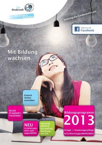 Bildungsprogramm 2013 - die-kinderwelt.com