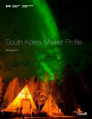 South Korea Market Profile - Canadian Tourism Commission - Canada