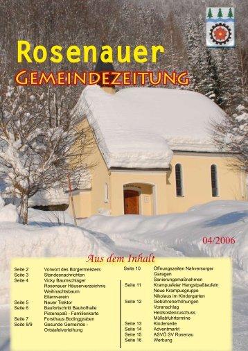 04. Ausgabe 2006 (0 bytes) - Rosenau am Hengstpaß - Land ...