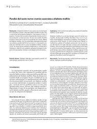 Paralisi del sesto nervo cranico associata a diabete mellito Casistica