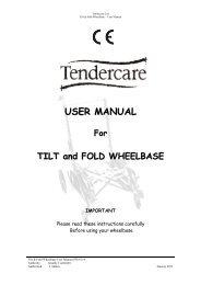 USER MANUAL - Tendercare Ltd
