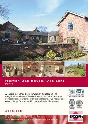 Marton Oak House, Oak Lane