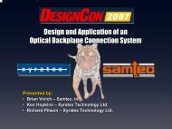 Design and Application of an Optical Backplane ... - Samtec