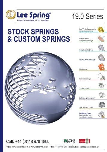 STOCK SPRINGS & CUSTOM SPRINGS 19.0 Series - Lee Spring Ltd