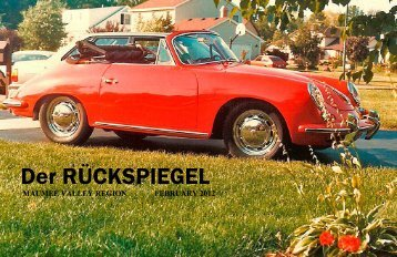 Volume 39 Issue 2, February 2012 - Maumee Valley - Porsche Club ...