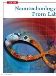 Cover Story - Nanotechnology -From Lab to Market