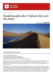 Wanderkreuzfahrt über's Nubische Meer nach ... - Weltweitwandern