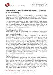 ÅLF's kommentarer til evalueringen - Folkeskolen