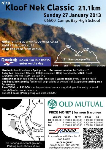 Download KNC 2013 Race Flyer - Top Events