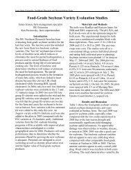 Food-Grade Soybean Variety Evaluation Studies - Iowa State ...