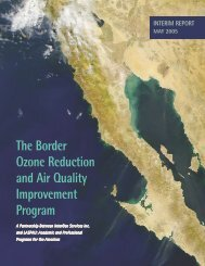 The Border Ozone Reduction and Air Quality Improvement Program