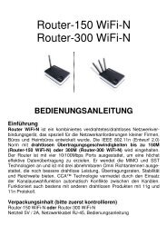 Router-150 WiFi-N Router-300 WiFi-N