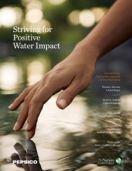 Striving for Positive Water Impact - PepsiCo