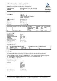 GUTACHTEN zur ABE Nr. 46559 nach §22 StVZO Anlage 3 zum ...