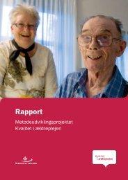 Metodeudviklingsprojektet - Kvalitet i ældreplejen - Servicestyrelsen