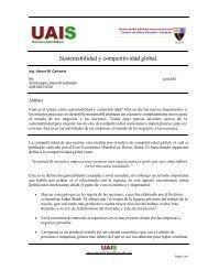 Sustentabilidad y competitividad global - Sustentabilidad.uai.edu.ar
