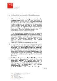 Wien – Drehscheibe für internationale Wirtschaftsbeziehungen ...