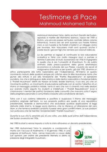 Mahmoud Mohamed Taha - Caritas Roma