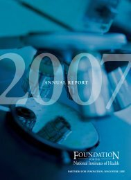 2007 Annual Report - Foundation for the National Institutes of Health