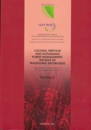 cultural heritage and sustainable forest management