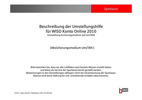 20110307_WISO Konto Online 2010_smsTAN [Kompatibilitätsmodus]