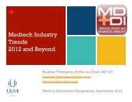 Medtech Industry Trends 2012 and Beyond - Meptec