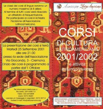 Per leggere le proposte, clicca qui - Alac Cremona