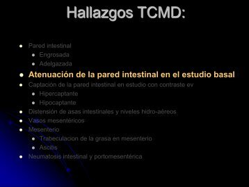 Atenuación de la pared intestinal en el estudio basal