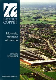 Monnaie, methode et marche - Institut Coppet