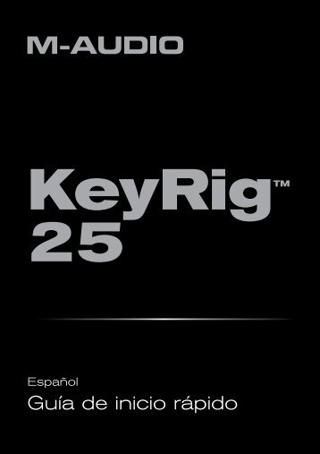 Keyrig 25 manual - M-Audio