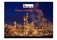 Flame Detector Types - Spectrex Inc.