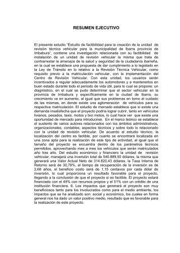 RESUMEN EJECUTIVO - Repositorio UTN