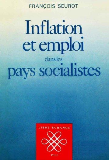 Inflation et emploi dans les pays socialistes - Institut Coppet