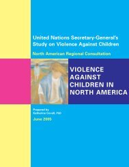 United Nations Secretary-General's Study on Violence Against ...