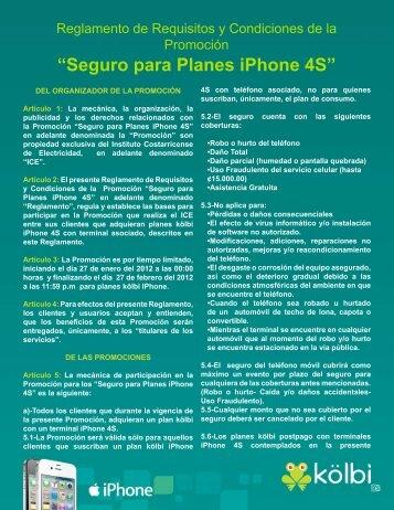 """Seguro para Planes iPhone 4S"" - Grupo ICE"