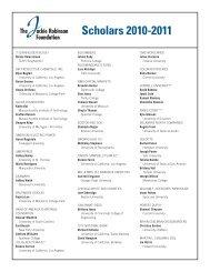 Scholars 2010-2011 - The Jackie Robinson Foundation