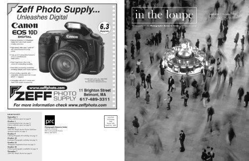 September | October 2003 - Boston Photography Focus