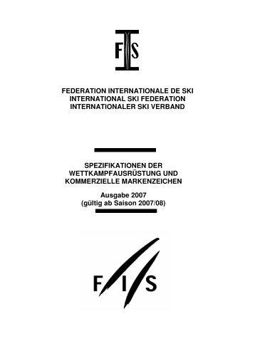 FIS Wettkampf Ausrüstung gültig ab 2007 - SKI TEAM Thunersee