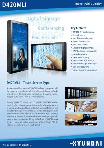 download catalogue pdf - Pantalla Tactil