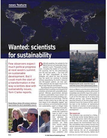 scientists for sustainability - Renewable and Appropriate Energy ...