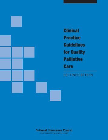Clinical Practice Guidelines - National Consensus Project for Quality ...
