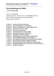 Gesundheitstipps der ABDA - Moritz Apotheke