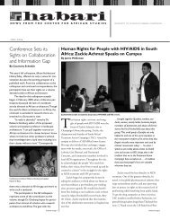 2005-06 - Center for African Studies - University of Illinois at Urbana ...